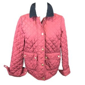 J Crew Down Zip up Jacket Size Small